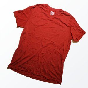 Mossimo Soft T-Shirt V-Neck Red Athletic Fit